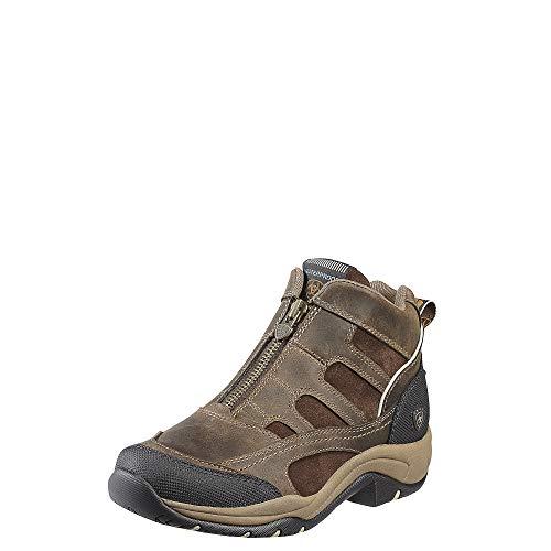 Boots Womens H2o - Ariat Women's Terrain Zip H2O Hiking Boot, Distressed Brown,8.5 B US