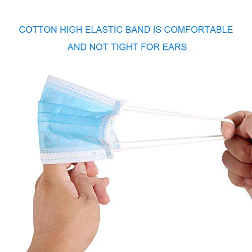 20 PCS Masks for dust protection,3-Ply Face Mask Antiviral Medical Masks Disposable Face Masks with Elastic Ear Loop Disposable Dust & Filter Safety Mask (20 pieces)