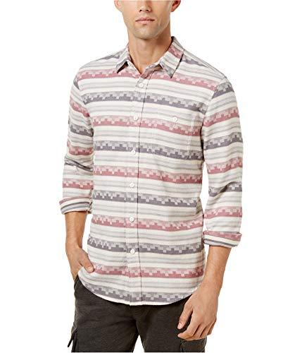 American Rag Mens Geometric Striped Shirt Oatmeal Heather, 3XL