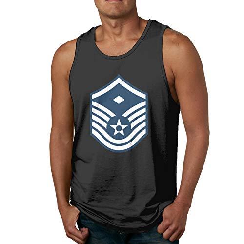 Air Force Master Sergeant 1st SGT Diamond Rank Men's Colour Tank Top Shirt Black
