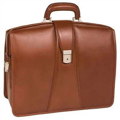 V Series Harrison Partners Leather Laptop Briefcase Color: Brown