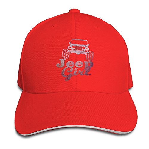 Price comparison product image Hotgirl4 Adult Cool Jeep Girl Sandwich Bill Baseball Cap Red