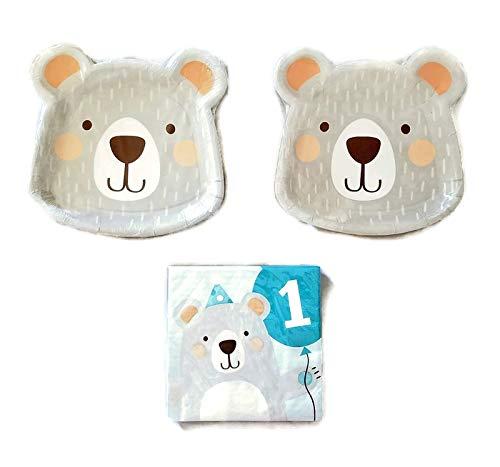 Bear 1st Birthday Party Bundle 8