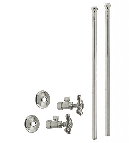 Westbrass Bullnose Faucet Kit with Cross Handles, 5/8