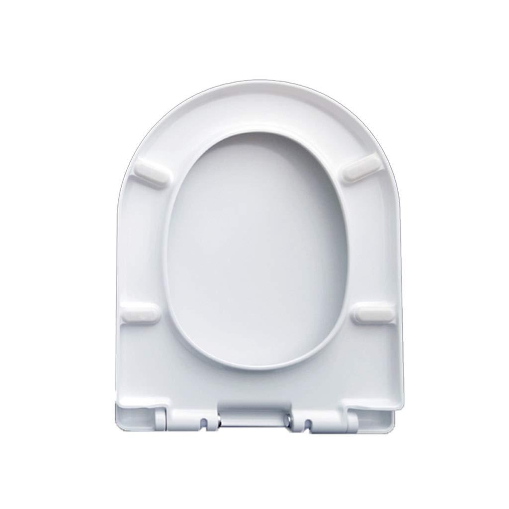 U 350 OUMTG White Quiet Comfortable Toilet Seat Thicken Toilet Bowl Durable Toilet Lid Easy To Clean (Design   V 385)