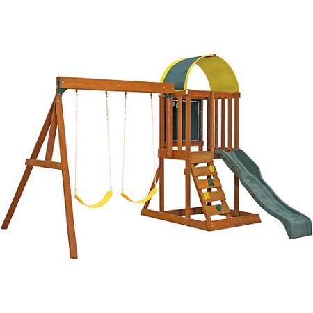 Ready To Assemble Swing Sets - Cedar Summit Premium Play Sets Ainsley Ready to Assemble Wooden Swing Set