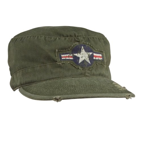 Forces Olive Drab Vintage Fatigue - Rothco Vintage Olive Drab Air Corp Fatigue Cap