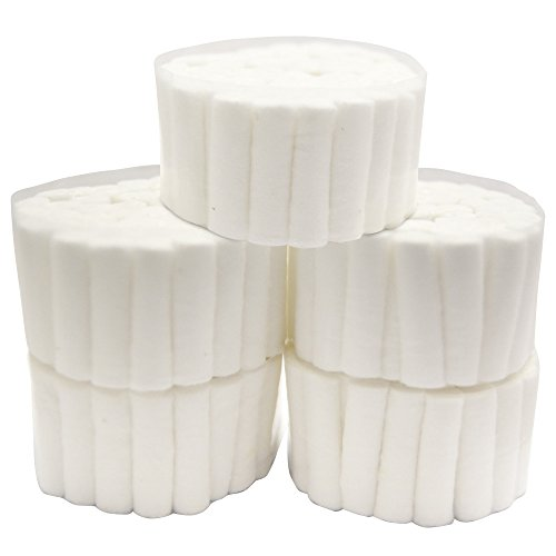 (250 White Dental Cotton Roll High Absorbent Cotton Sterile Dentist Cotton Rolls #2 Medium Roll Pack)