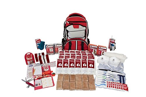 - Guardian Survival Gear Hiker's Deluxe Emergency Kit, Red Backpack, 2 Person