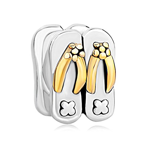 ippers 925 Sterling Silver Charm Beads For Bracelets ()