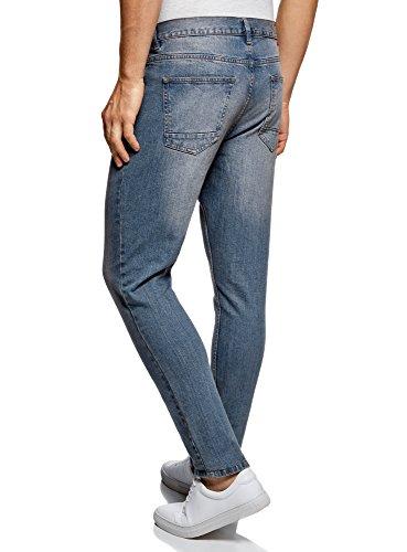Basic Blu Jeans Oodji Slim 7500w Uomo Fit Ultra wq6qOxUXY