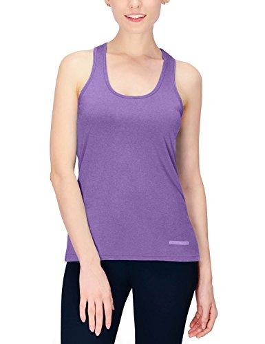 Baleaf Women's Racerback Tank Tops Running Workout Shirt Heather Purple Size M