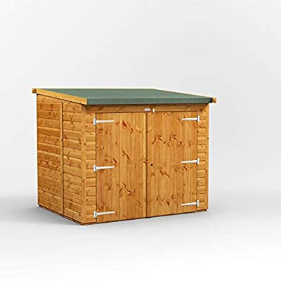 POWER Wooden Bike shed 6x5 Pent