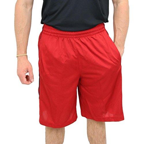 2ba5e6234638 Nike Mens Jordan Double Crossover Basketball Shorts (Team Red Black Black