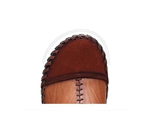 Brown Tela Inverno Casual Primavera Scarpe zmlsc Scarpe Lavoro su da da Marrone in Uomo Giallo Scarpe Nero Sport Pizzo TfFnUwqf