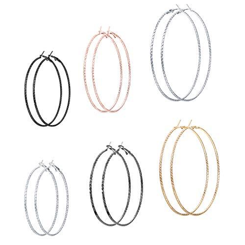 ig Twisted Hoop Earrings for Women Girls Multi-Sizes Infinity Endless Earrings ()