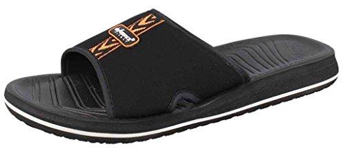 DE FONSECA pantofole ciabatte mare uomo mod. AMALFI M46 FASCIA NERO