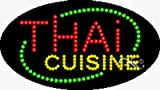 15x27x1 inches Thai Cuisine Animated Flashing LED Window Sign