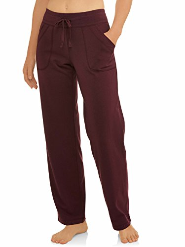 Athletic Works Women's Essential Athleisure Knit Pant Burgundy S Petite