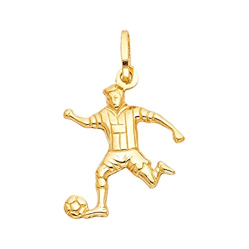 TGDJ 14K Yellow Gold Soccer Player - 14k Player Soccer