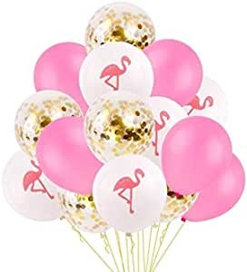 15PCS/Set Flamingo Decoration Birthday Party Decorations Kids Latex Balloons Air Flamingo Party Favors Flamingo Birthday Party Supplies