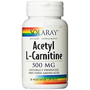 Solaray Acetyl L Carnitine Supplement, 500mg, 30 Count