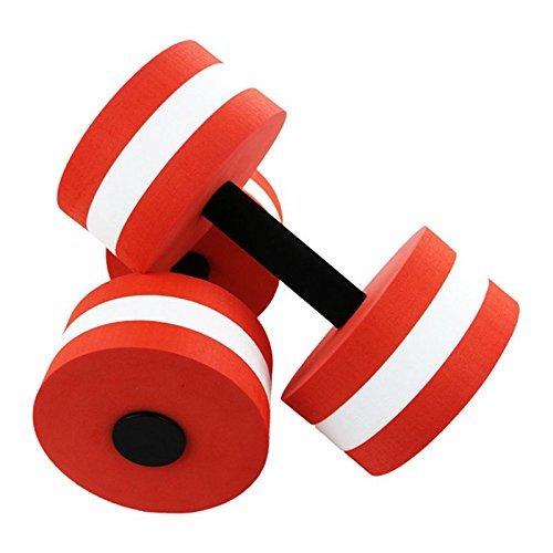 homdsim 2pcs/set ejercicio acuático mancuernas para aquaeróbic para agua máquinas de brazo ejercicio de aeróbic y fitness deportes EVA flotante natación ...