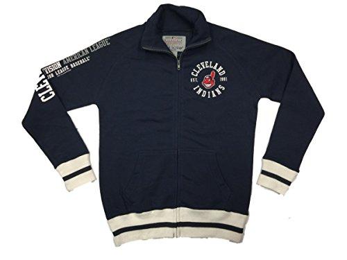 Soft As A Grape Cleveland Indians Women's Navy American League DEFECT Logo Track Jacket (XL)