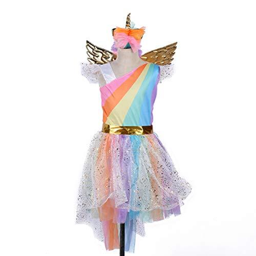 BESTOYARD Girl Unicorn Tutu Dress Kids Party Carnival Fancy