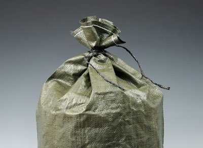 20'' x 36'' Woven Polypropylene Sandbags with Attached Tie-String - Green (100 Bags) - AB-30-2-166 by Miller Supply Inc
