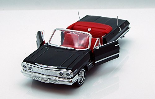 welly-1963-chevrolet-impala-convertible-1-24-scale-diecast-model-car-black