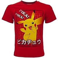 Fashion UK - Camiseta oficial de Pokémon original de Pikachu Pika! Pika. Camiseta para niño