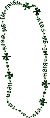 [Kiss Me I'm Irish Beads-Of-Expression Party Accessory (1 count) (1/Card)] (Kiss Me Im Irish Costume)