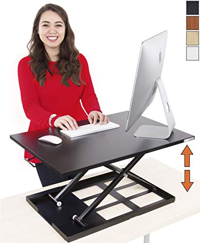 Stand Steady Standing Desk X-Elite Standing Desk | X-Elite Pro Version, Instantly Convert Any Desk into a Sit/Stand up Desk, Height-Adjustable, Fully Assembled Desk Converter (Black) (28 inch) (Treadmill For Stand Up Desk)
