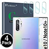 Ferilinso Camera Protector for Samsung Galaxy Note 10/Note 10 pro/Note 10 Plus, [4 Pack] Bubble Free Tempered Glass Protection Film with Lifetime Replacement Warranty (Clear)