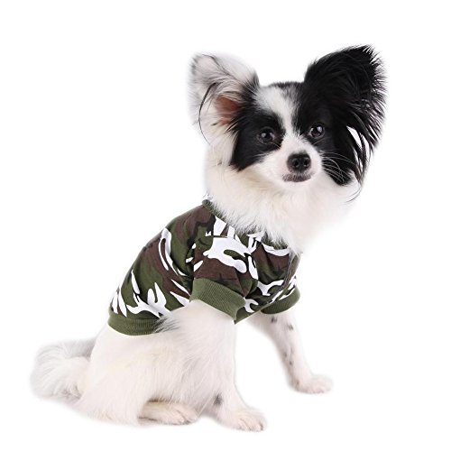 BE GOOD Pet Sweater Hoodies Coat Army Green Camouflage Sweatshirt Clothes for Small Dog Puppy 5 Sizes Available Review