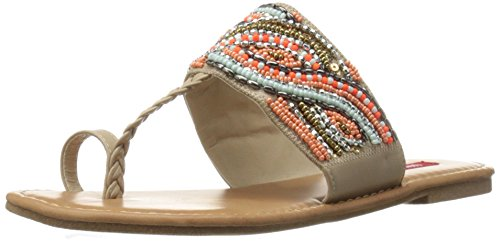 Union Bay Women's Tyro Dress Sandal - Orange/Cream - 7.5 ...