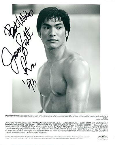 Jason Scott Lee signed 8x10 photo