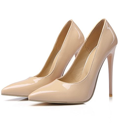 Hauts TAOFFEN Aiguille Soiree Pointue Mode Mariage Talons Femmes Bout Escarpins Sm Chaussures Abricot YrZnO1Y