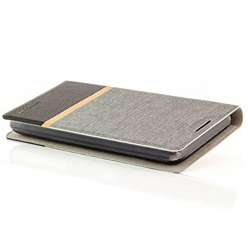 Funda HTC Desire 626G Case [zanasta Designs] Cubierta Carcasa Flip Cover Tapa Delantera con Billetera para Tarjetas Protectora de Alta Calidad, Cierre Abatible Gris Gris