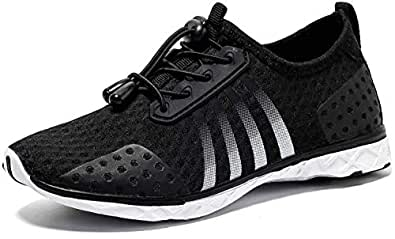 AMAWEI Water Shoes for Kids Boys Girls Quick Dry Beach Swim Surf Shoes for Pool Sport Walking Black Size: 1 Little Kid