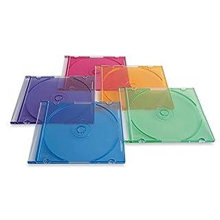 Verbatim CD/DVD Slim Cases (0.21 inches) - Assorted Colors - 50pk