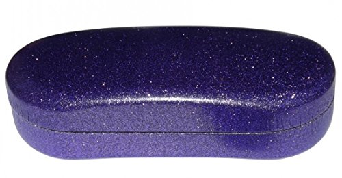 (O'Meye Hard Shell Eyeglass & Sunglasses Case 3 Piece Set for Men & Women - Dazzling Glitter (MS87 Purple Passion))