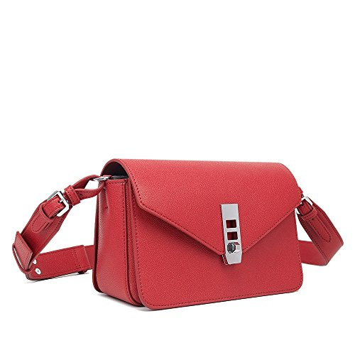 Wristlet Handbag Square TravelBags Shoulder Shoulder Retro Wide Crossbody Bag Clutch Lock Xuanbao PU Straps Red Simple Purse Shoulder Wallet Tote qBZHP5