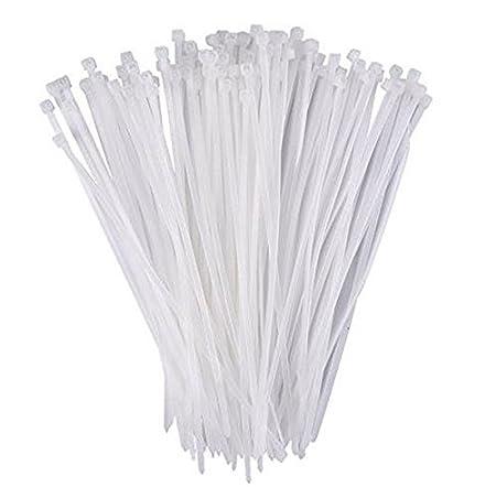 Westeng Plastique Attaches de câble en nylon Zip Tie Wraps Ultra Forte résistance à la traction 3x 200mm, 100pcs en noir 3x200MM blanc
