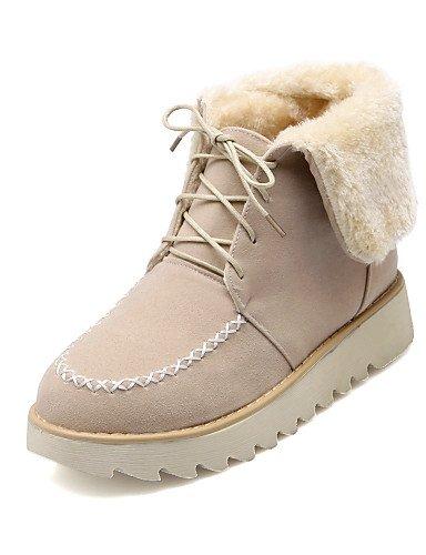 XZZ  Damenschuhe - - - Stiefel - Kleid   Lässig - Vlies - Plateau - Schneestiefel   Rundeschuh - Braun   Beige B01L1GTJJE Sport- & Outdoorschuhe Bevorzugtes Material 725528