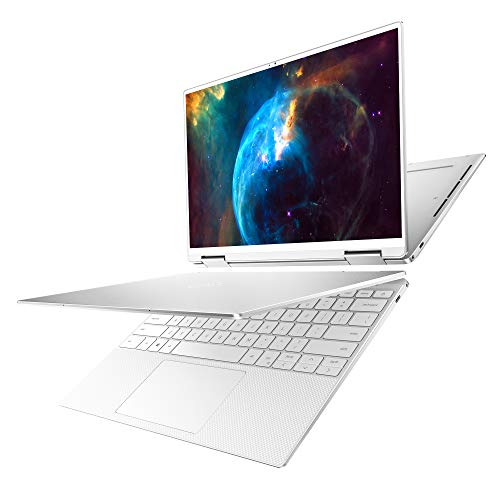 Dell XPS 13 2-in-1, 13.4 inch FHD+ Touch Laptop - Intel Core i7-1065G7, 8GB LPDDR4 RAM, 256GB SSD HD, Intel iris, Windows 10 Home - Frost (Latest Model)