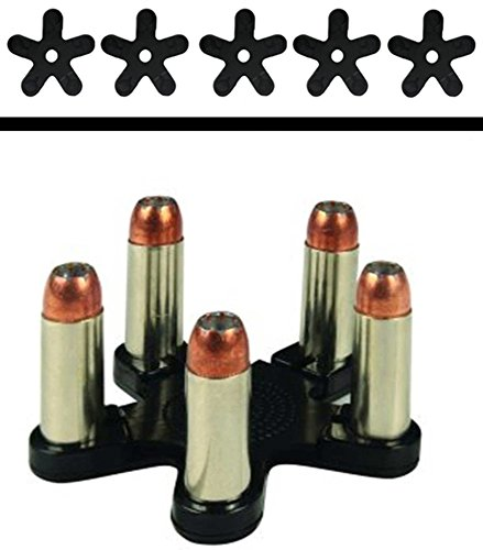 Single Action Revolver .30-30 .410 SHOTGUN .44 .45 & .45 LONG COLT .458 LOTT & .458 WIN MAG .460 .50AE - Pack of 5 QuickStar 5 RD Round - Quick Reusable Swift Speed Reload Loader Clips