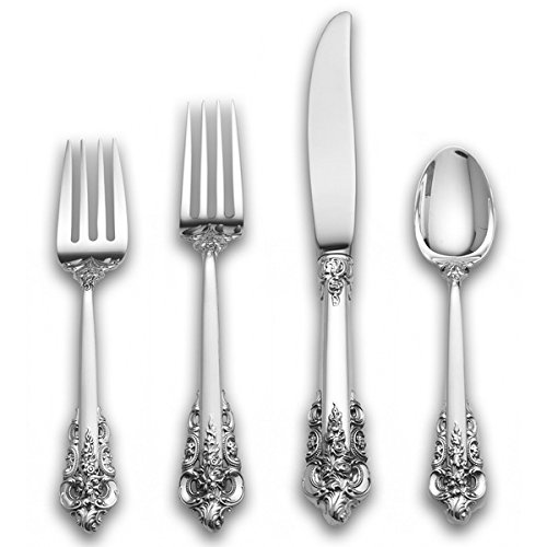 Christmas Tablescape Décor - Wallace Grande Baroque 4-Piece Sterling Silverware Set, Service for 1