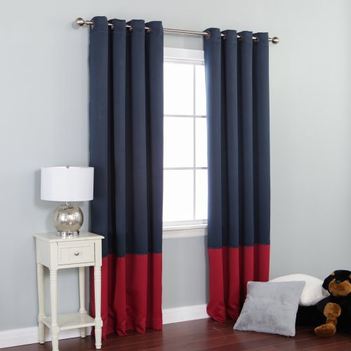 Amazon Best Home Fashion Colorblock Thermal Insulated Blackout Curtains